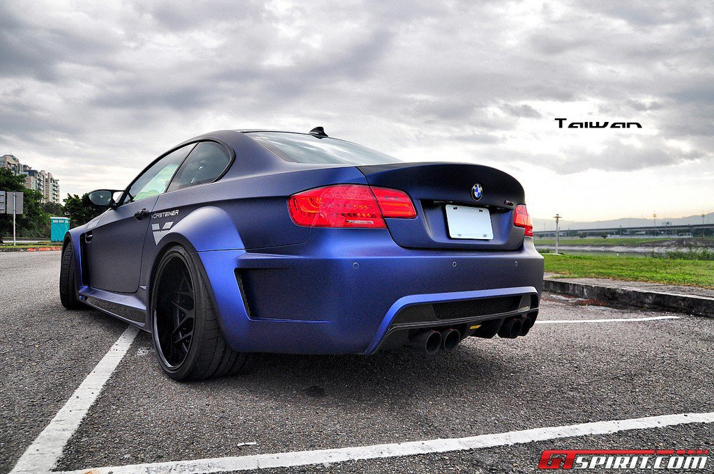 Matte Blue Vorsteiner GTRS3 BMW M3 Widebody
