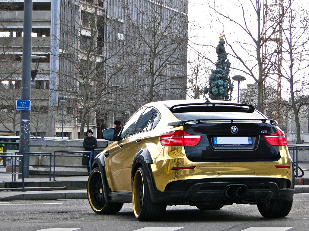 Bmw X6 M Hamann Supreme Is Extreme In Gold Bmw Car Tuning
