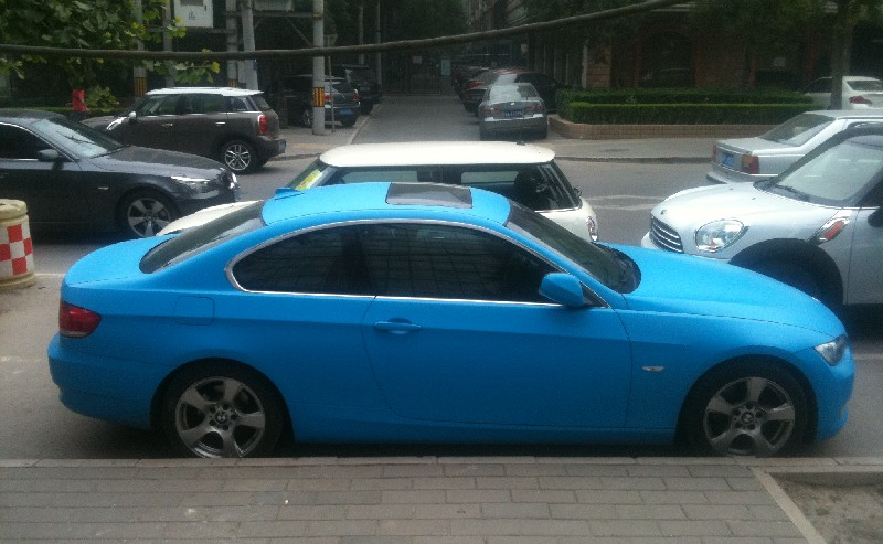 Baby Blue BMW 3 Series Coupe