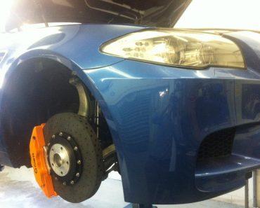 F10 BMW M5 carbon brakes