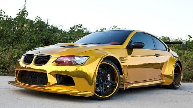 Gold Wrap E92 BMW M3