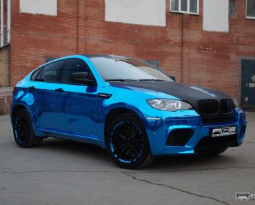 Blue Chrome BMW X6 M