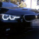 BMW M3 with hexagonal headlights