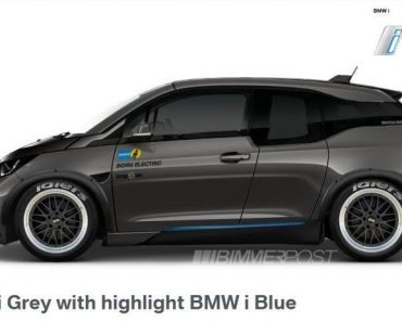 Tuned BMW i3 rendering