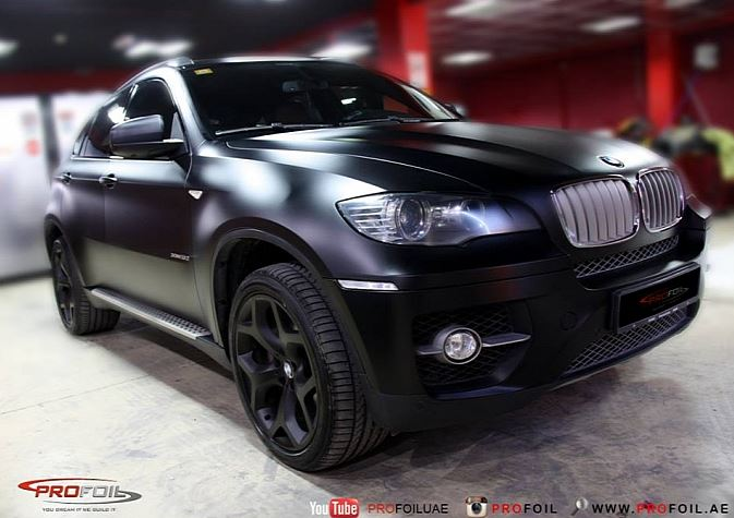 E71 Bmw X6 Semi Matte Black Wrap Bmw Car Tuning