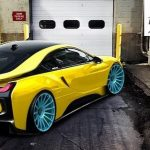 BMW i8 rendered with ISS wheels