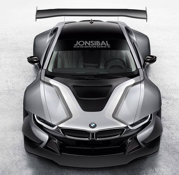 Race BMW I8 Rendering