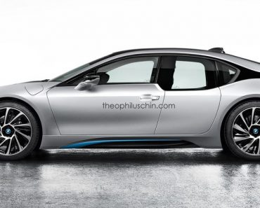 Four door BMW i8 rendering