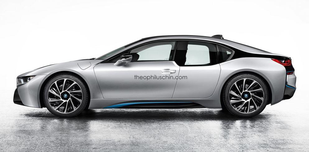 Four door BMW i8 rendering