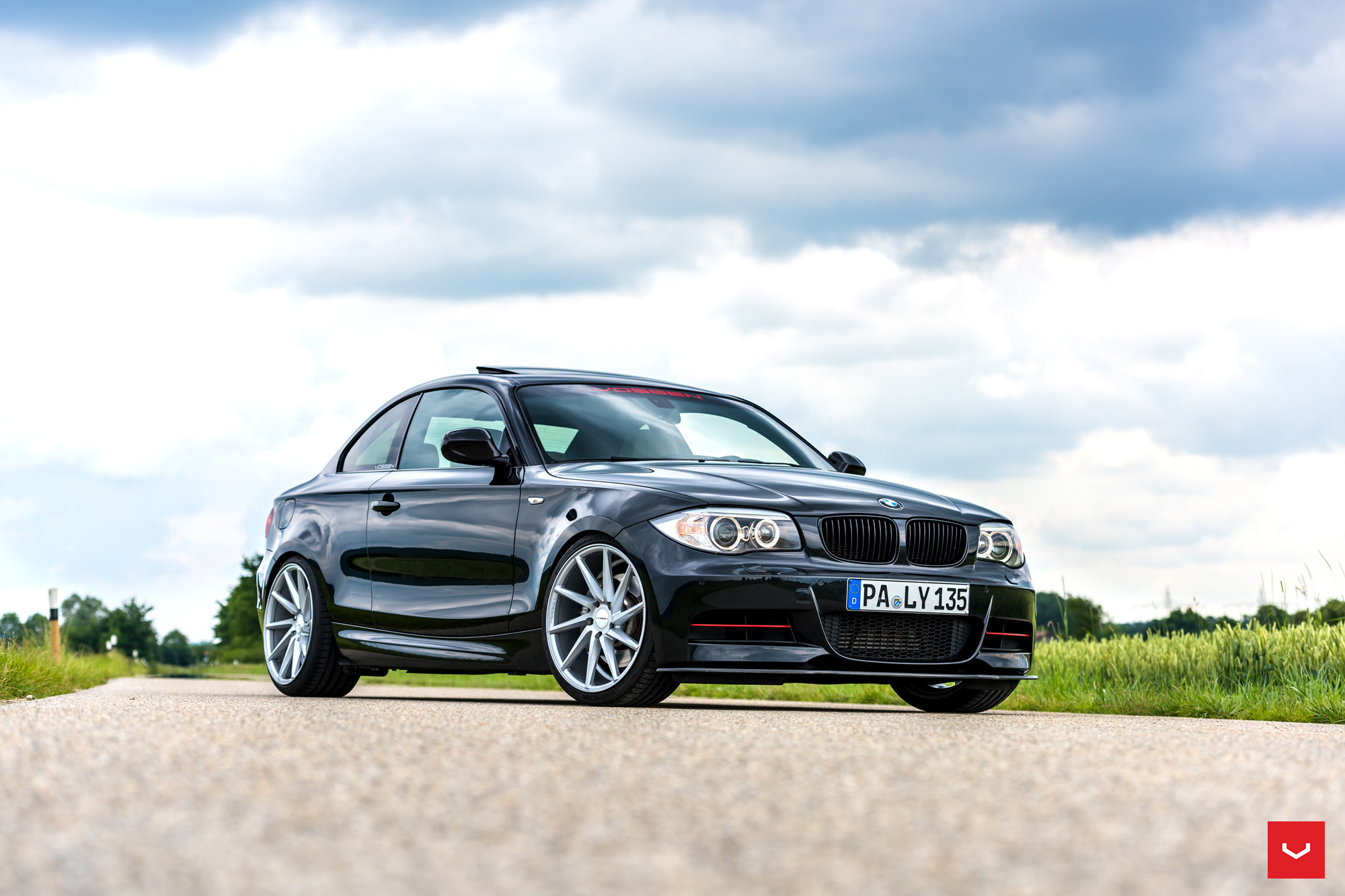 bmw 1 series coupe riding on vossen cvt wheels bmw car tuning. Black Bedroom Furniture Sets. Home Design Ideas