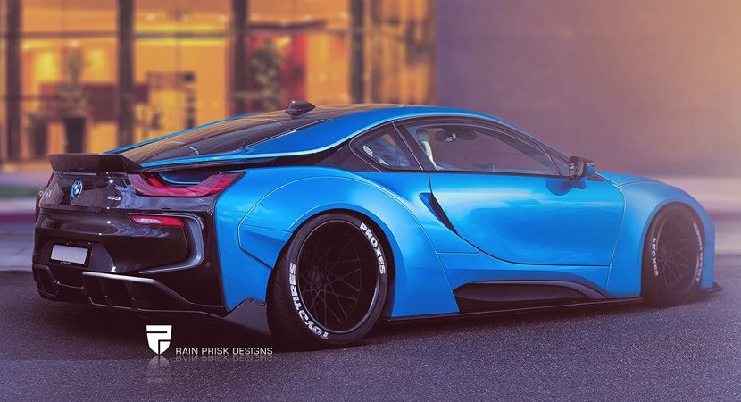 Bmw I8 Liberty Walk Launched In Rendering Bmw Car Tuning