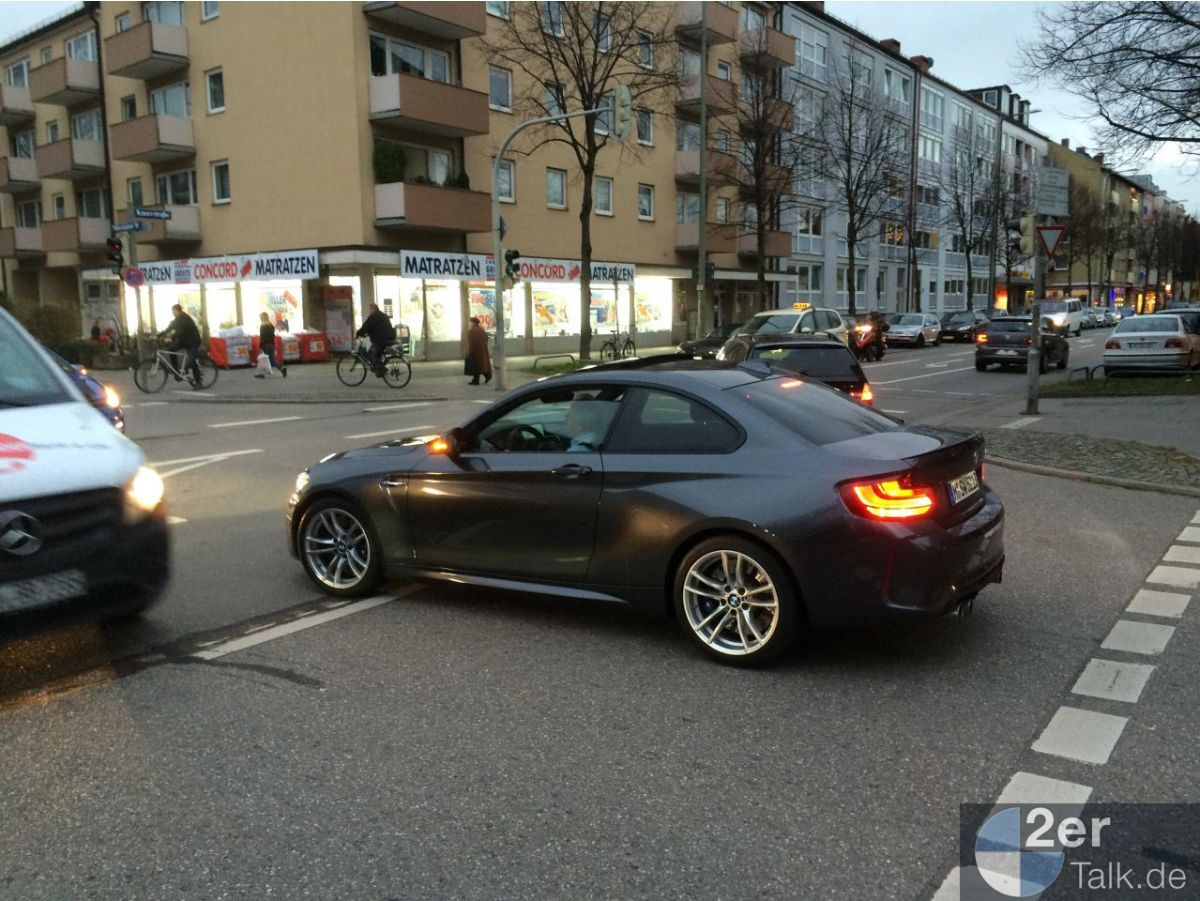 2016 BMW M2 Coupe Spotted in Mineral Grey (3)