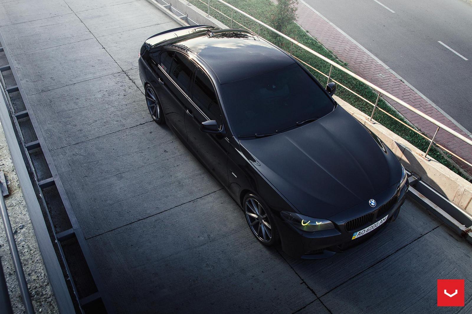 F10 BMW 5-Series M Sport Sits on Vossen Wheels (7)
