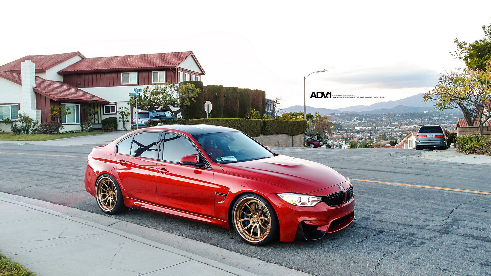 Individual Red 2016 F80 BMW M3 Sits on ADV.1 Wheels (5)