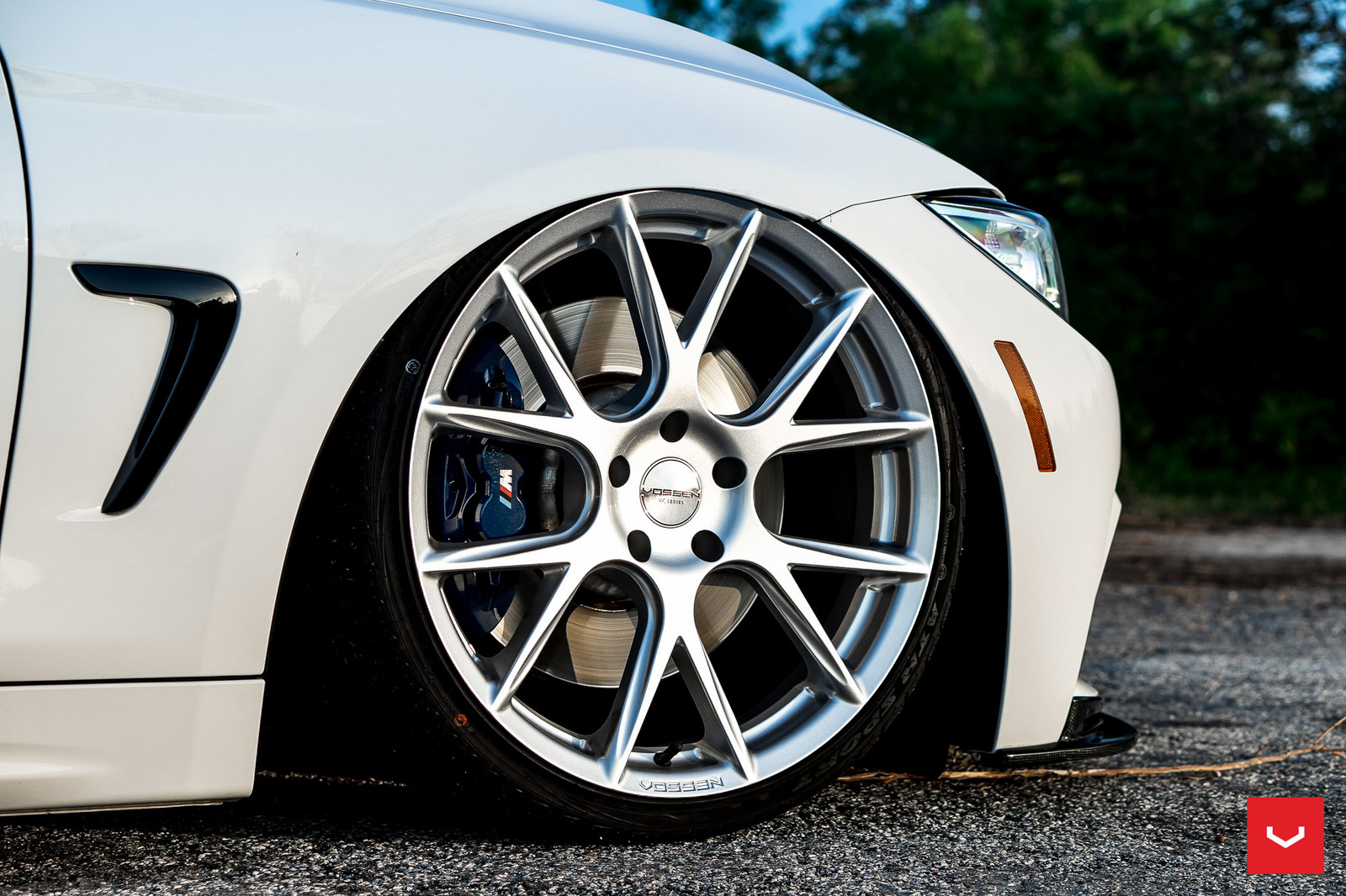 Alpine White BMW 435i Coupe with M Sport Package Bagging Treatment (10)