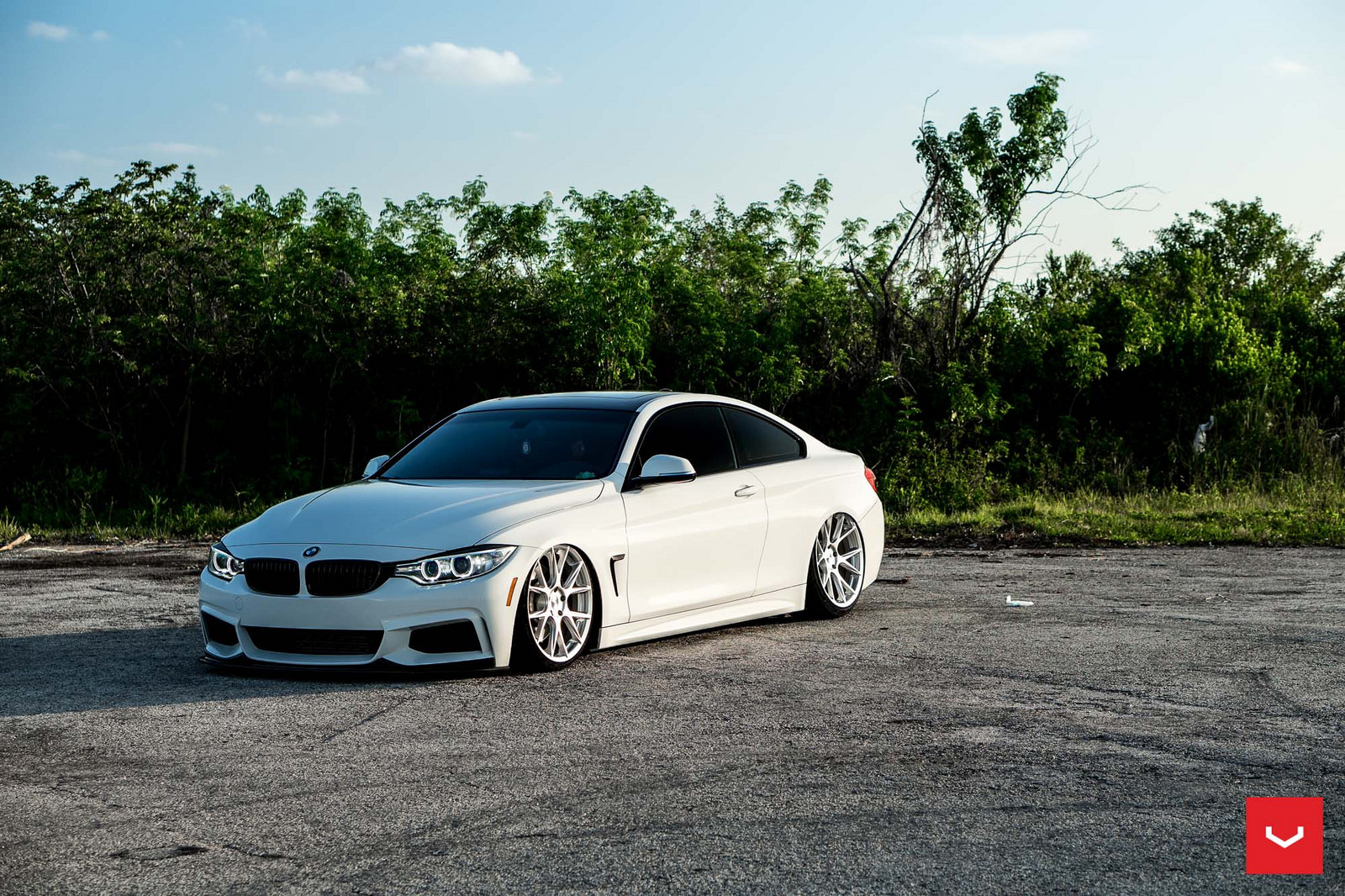 Alpine White BMW 435i Coupe with M Sport Package Bagging Treatment (11)