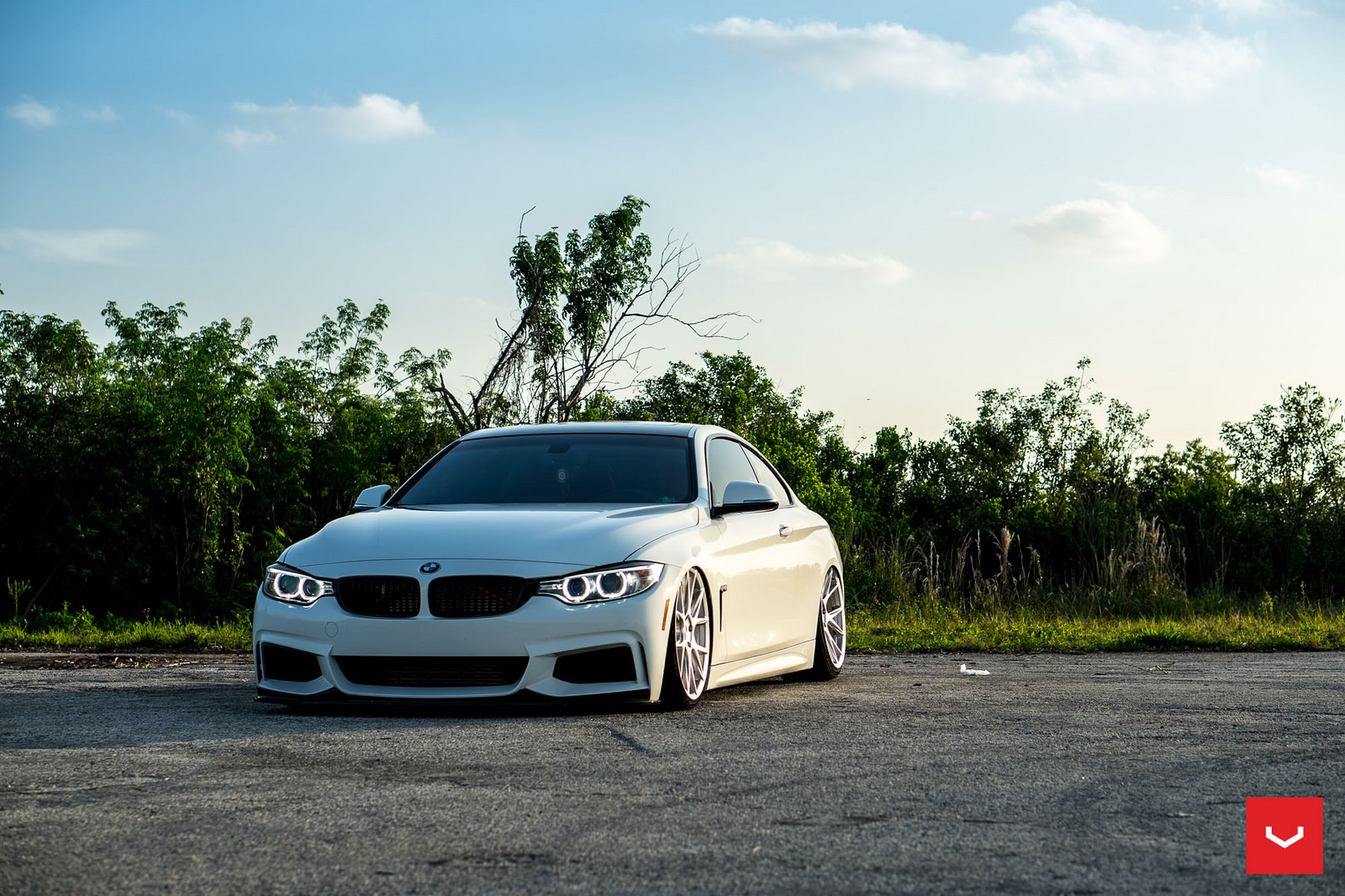Alpine White BMW 435i Coupe with M Sport Package Bagging Treatment (14)