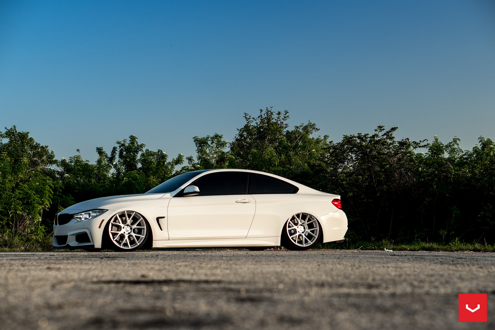 Alpine White BMW 435i Coupe with M Sport Package Bagging Treatment (17)