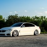 Alpine White BMW 435i Coupe with M Sport Package Bagging Treatment (2)