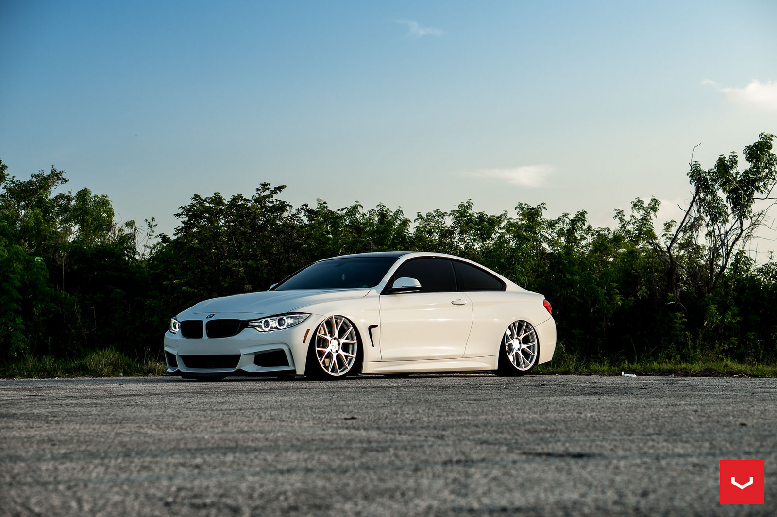 Alpine White BMW 435i Coupe with M Sport Package Bagging Treatment (4)