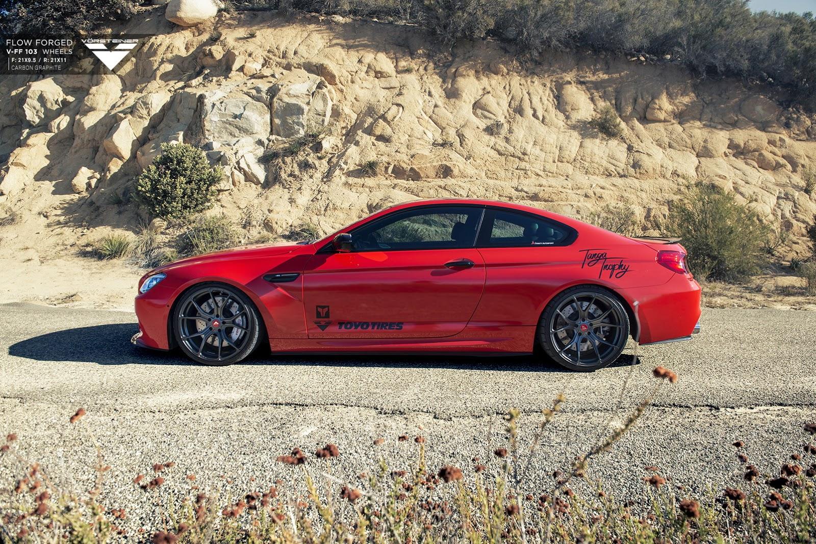BMW M6 with 21-inch Carbon Graphite Alloys by Vorsteiner (5)