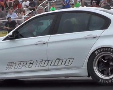 F80 BMW M3 drag race