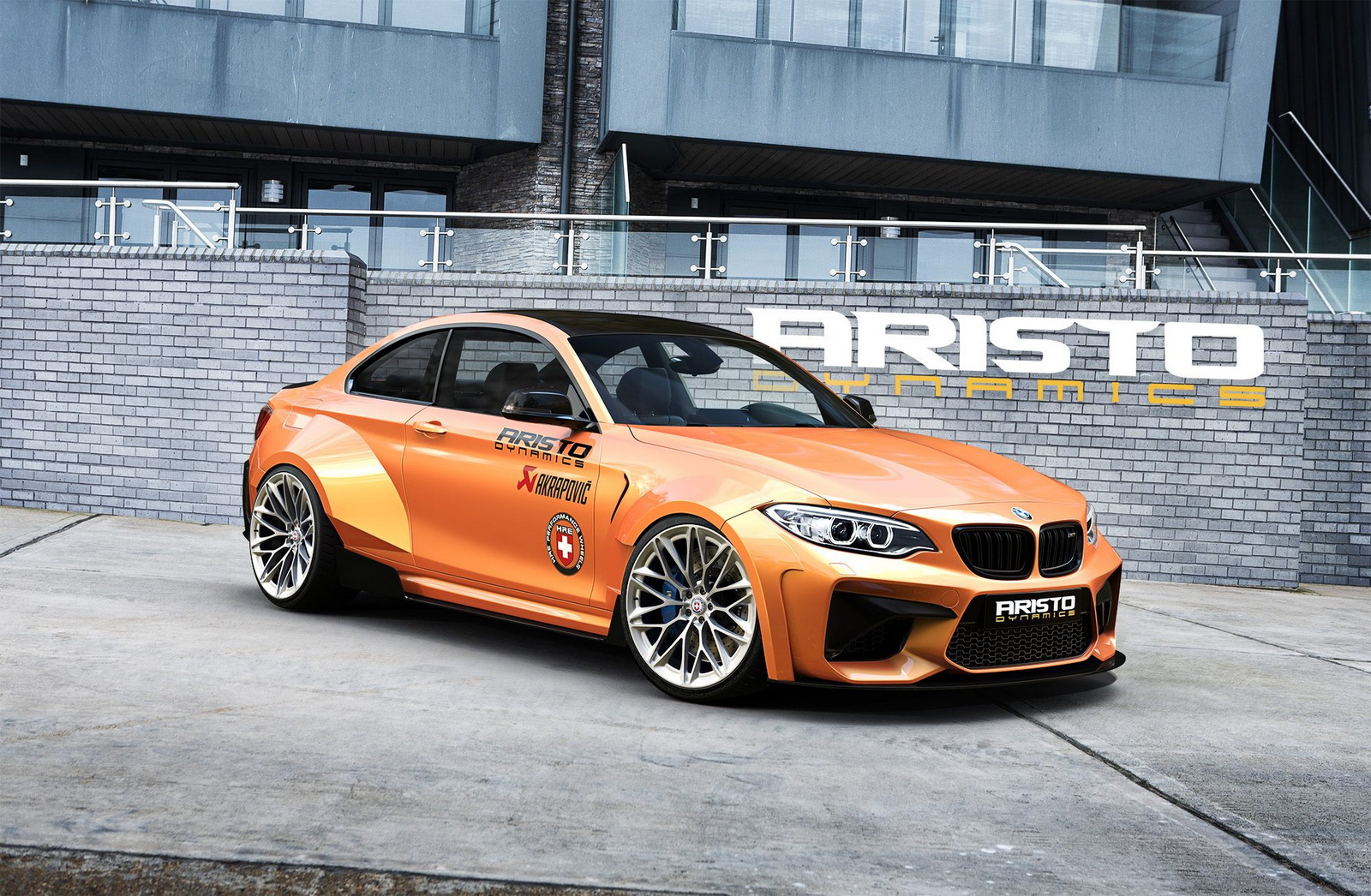 2016 bmw m2 coupe by aristo dynamics looks pretty menacing bmw car tuning. Black Bedroom Furniture Sets. Home Design Ideas