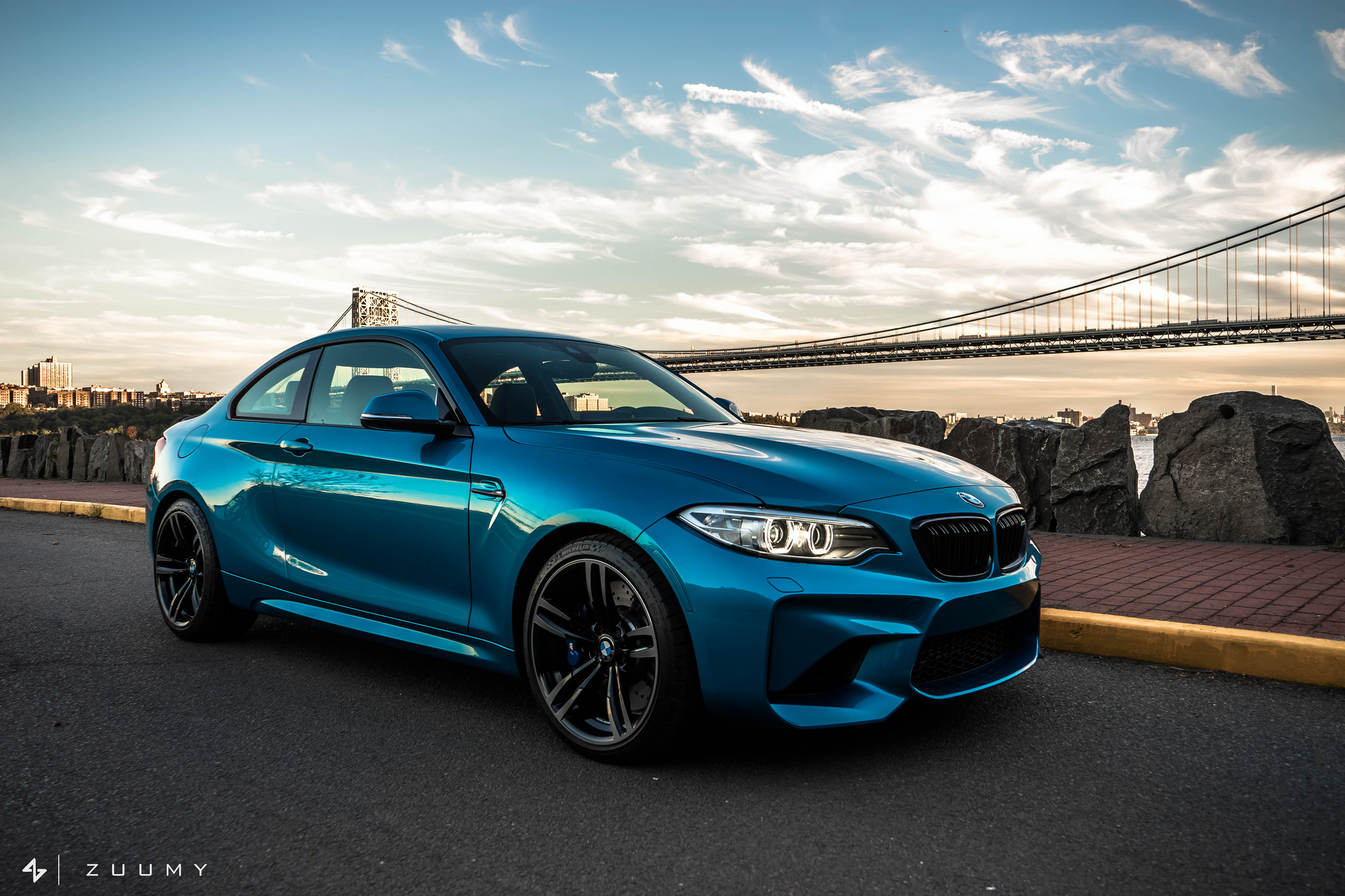 2016 bmw m2 in long beach wrap gets new parts courtesy of. Black Bedroom Furniture Sets. Home Design Ideas
