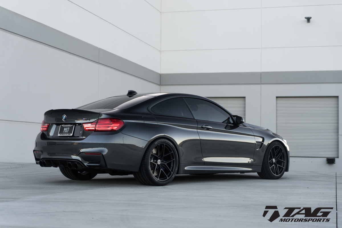 Mineral Grey BMW M4 Wrapped in HRE Wheels (15)