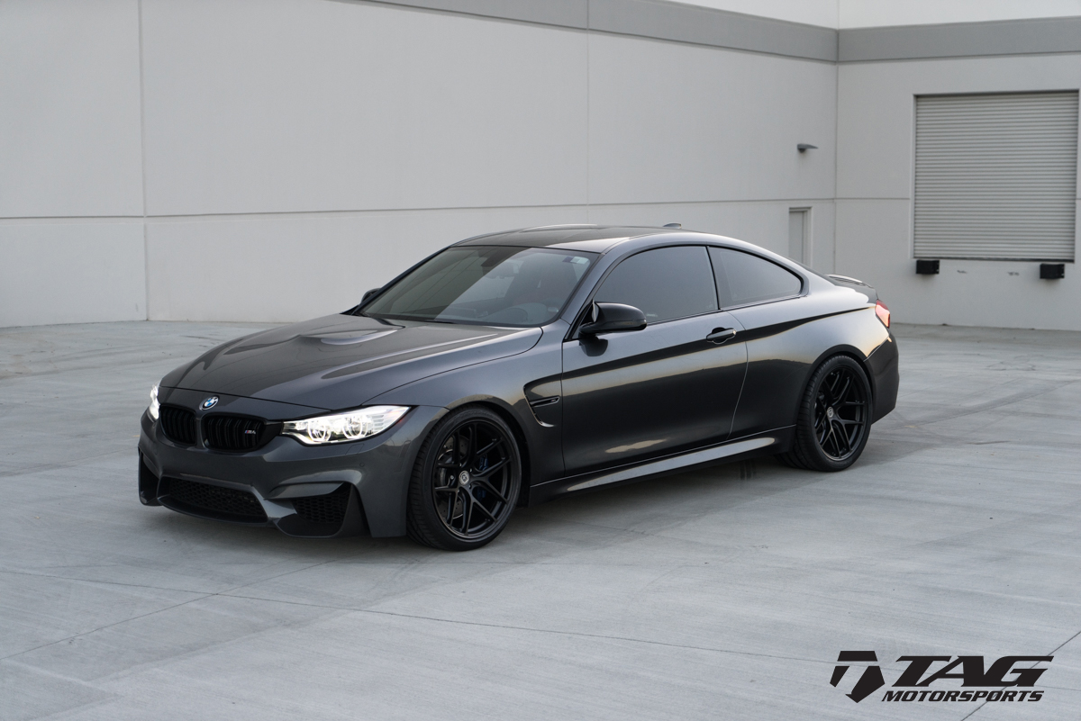 Mineral Grey BMW M4 Wrapped in HRE Wheels (2)