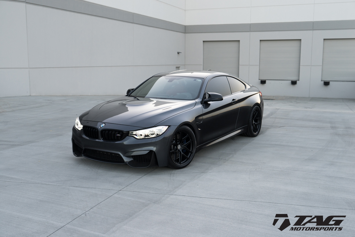 Mineral Grey BMW M4 Wrapped in HRE Wheels (4)