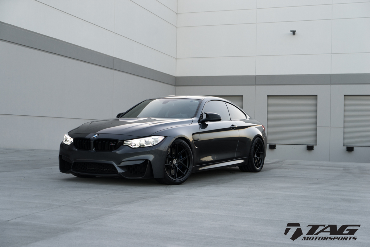 Mineral Grey BMW M4 Wrapped in HRE Wheels (7)