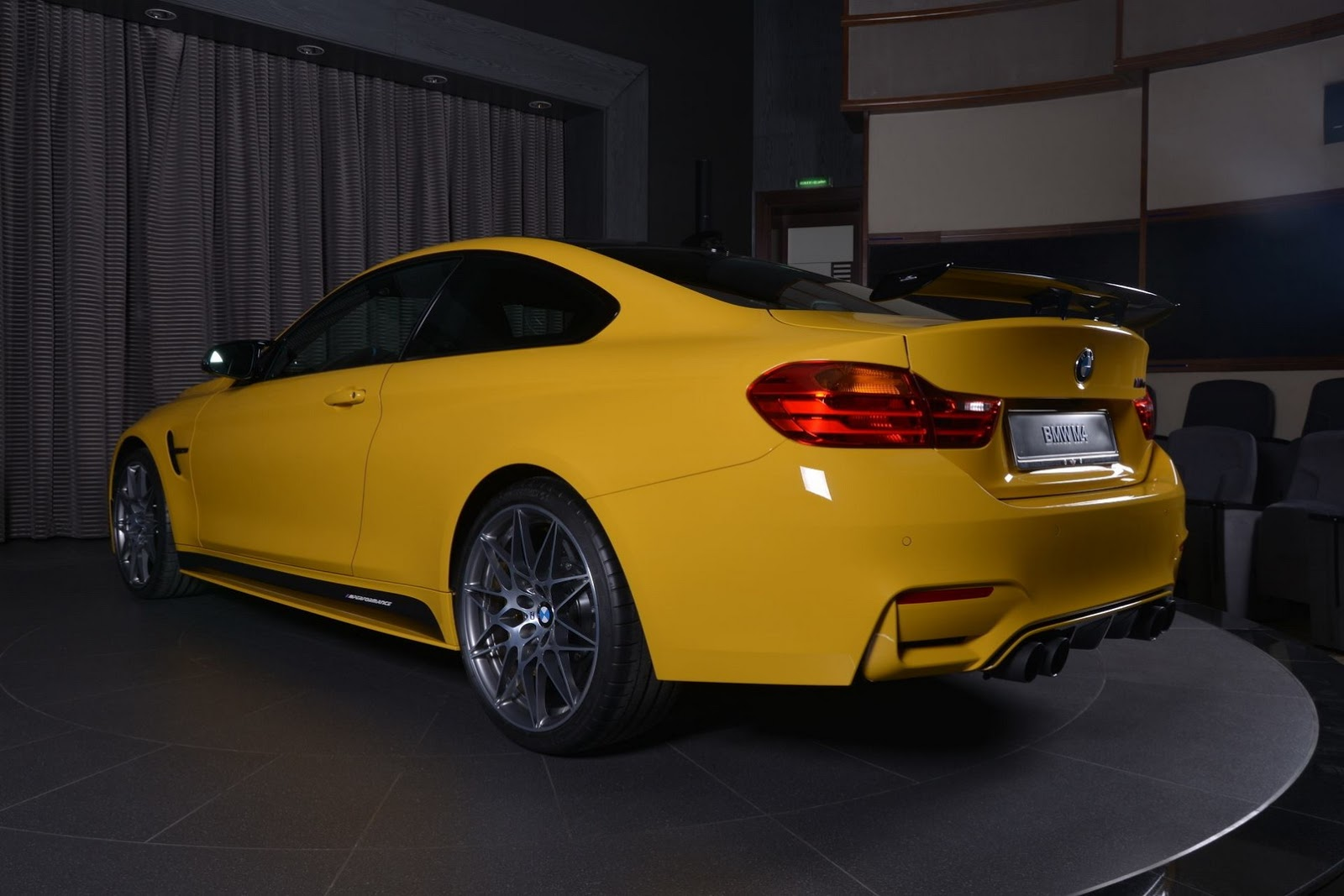 Yellow F82 BMW M4 Individual (2)