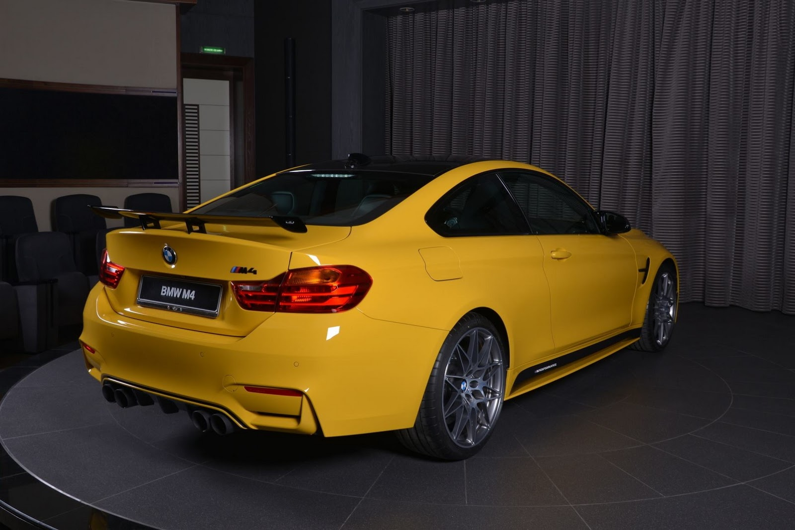 Yellow F82 BMW M4 Individual (4)