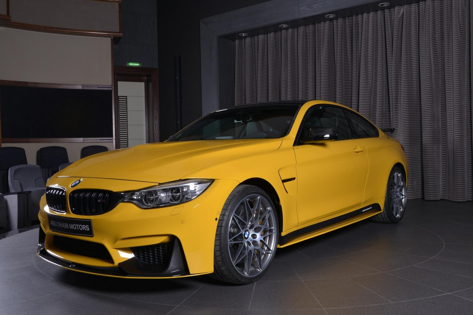 Yellow F82 BMW M4 Individual (8)