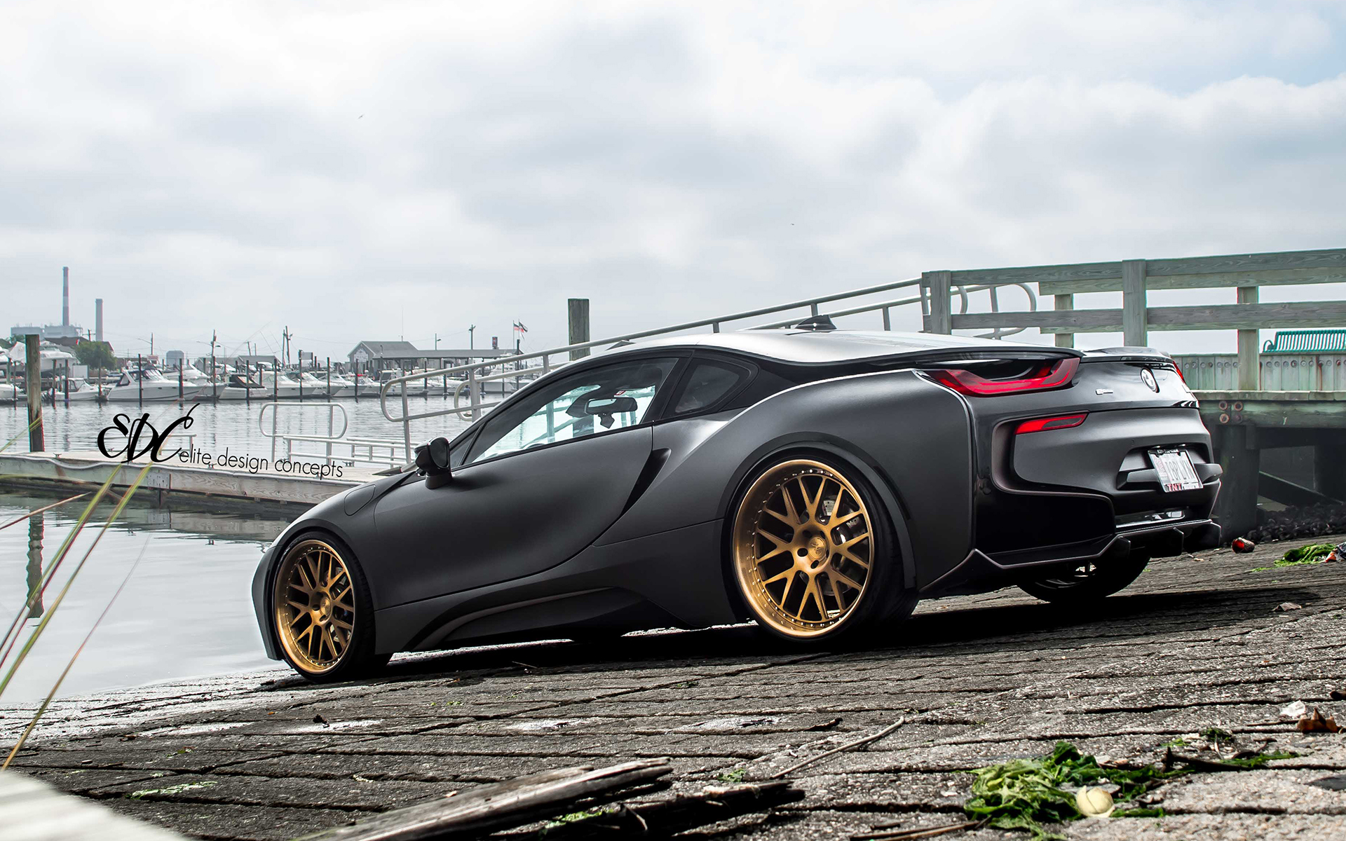 Matte Black Bmw I8 By Edc Bmw Car Tuning