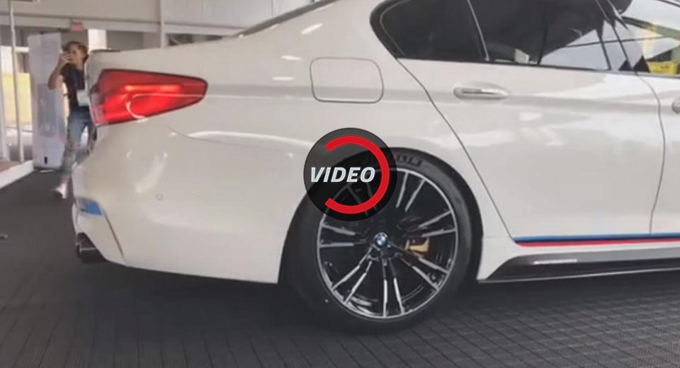 2017 BMW M5 with M Performance Titanium Exhaust