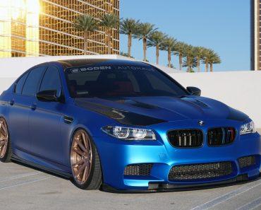 BMW F10 M5 with Vossen Wheels