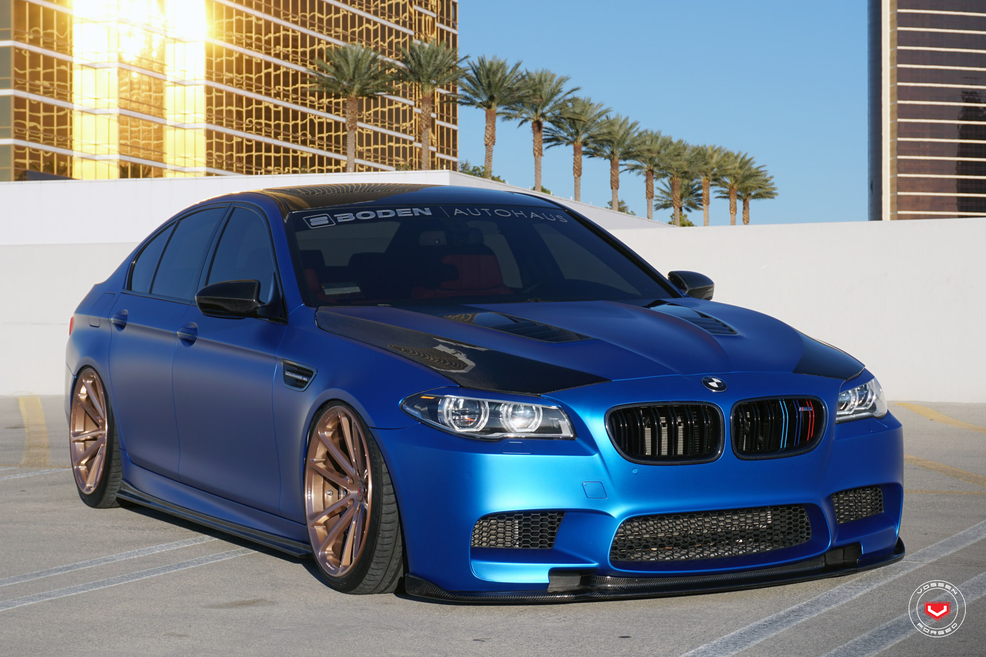 bmw f10 m5 with vossen wheels bmw car tuning. Black Bedroom Furniture Sets. Home Design Ideas