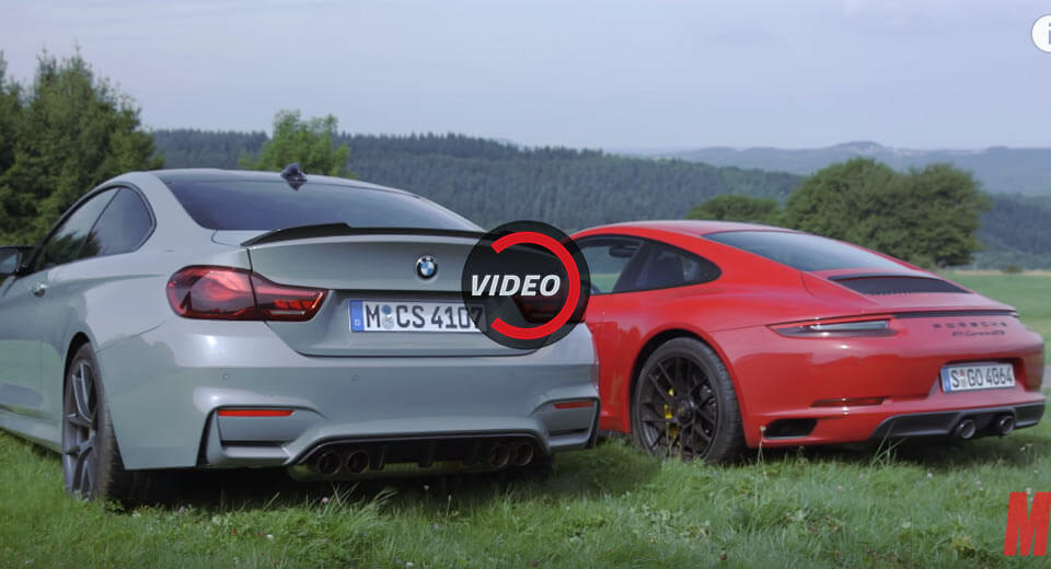 BMW M4 CS vs. Porsche 911 GTS