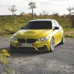 F80 BMW M3 in Austin Yellow and HRE Wheels (2)