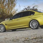 F80 BMW M3 in Austin Yellow and HRE Wheels (3)