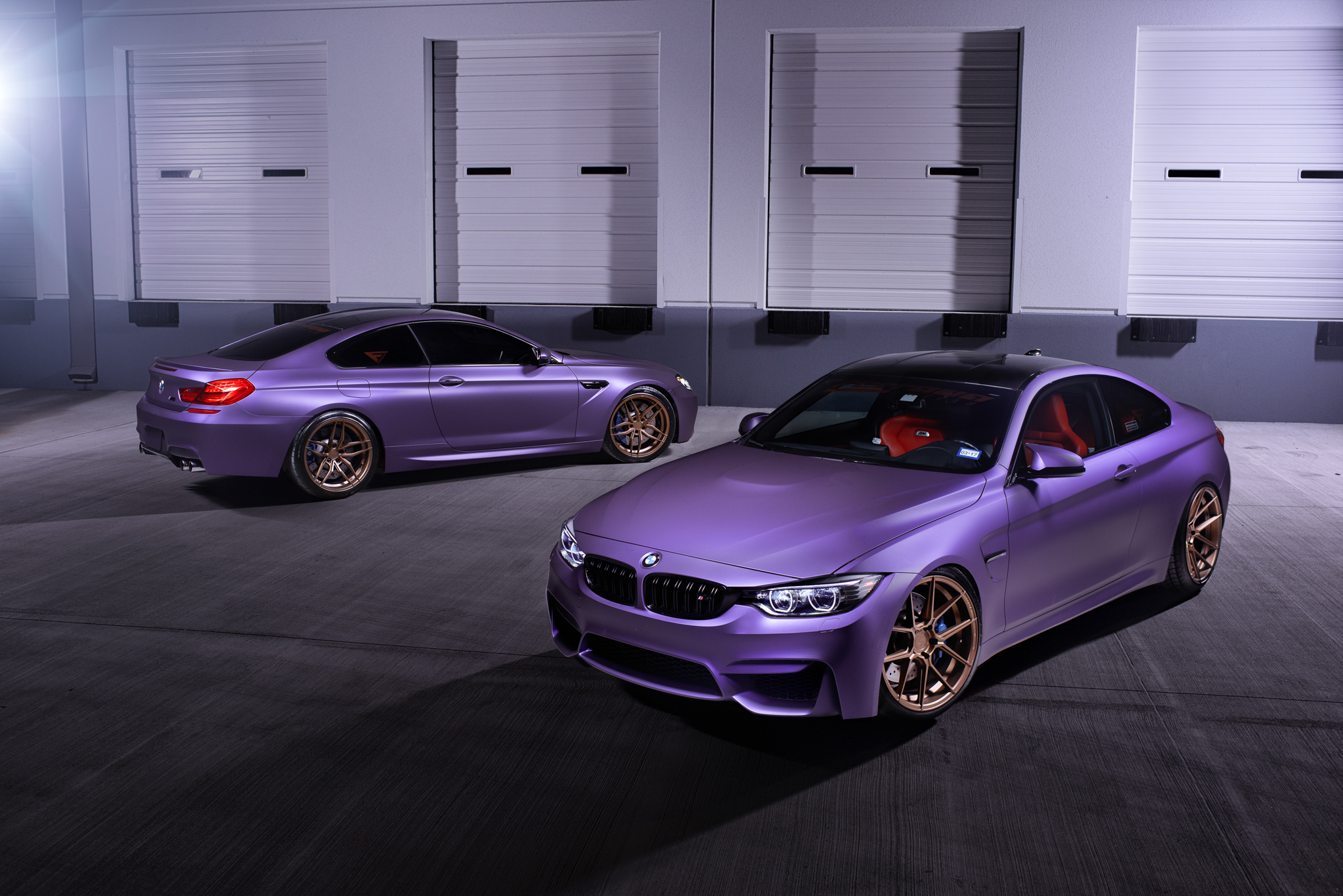 BMW M4 & M6 in Matte Purple (2)
