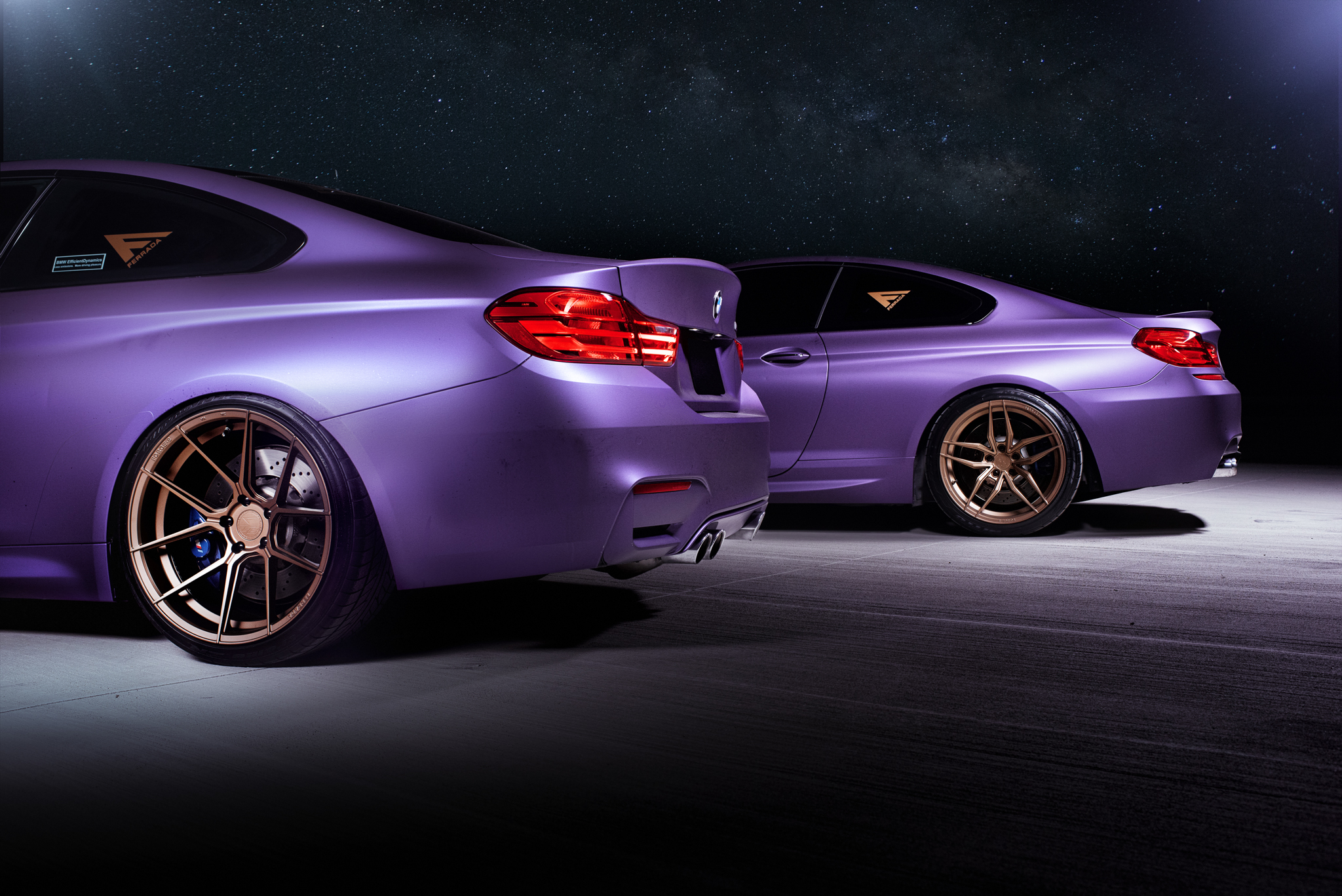 BMW M4 & M6 in Matte Purple (3)