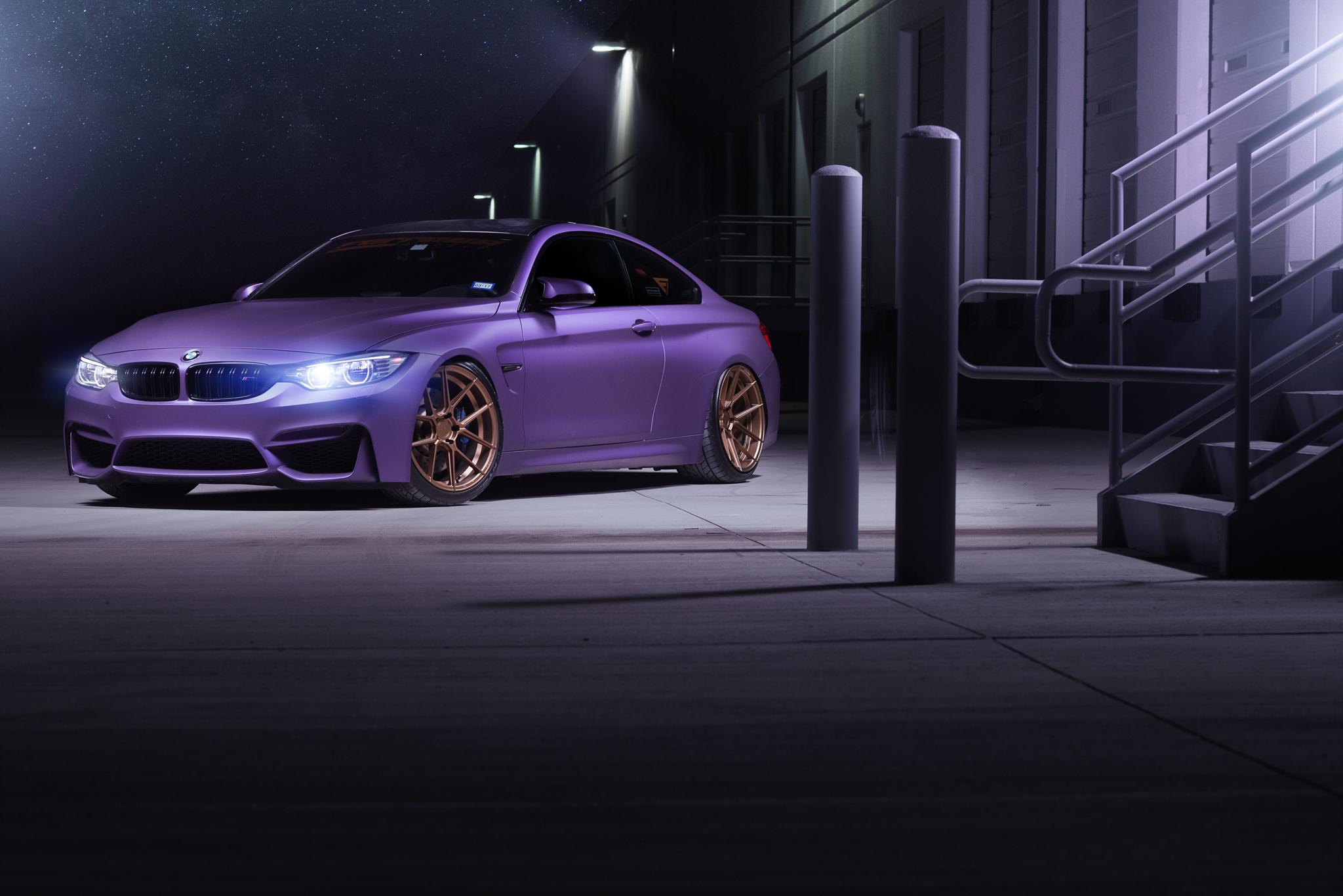 BMW M4 & M6 in Matte Purple (6)
