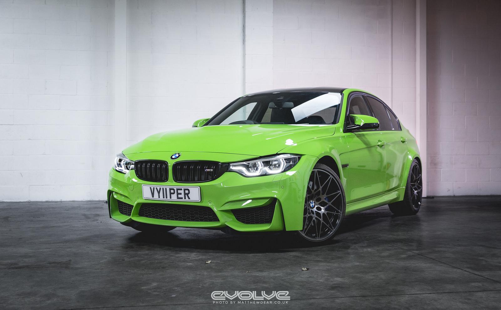 F80 BMW M3 with Verde Mantis Paintjob (1)