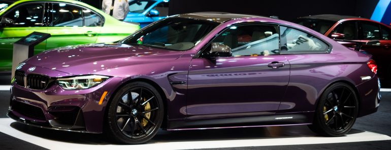 Purple Silk BMW M4 with M Performance Parts