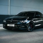 Carbon Black Metallic G30 BMW 5-Series with Vossen Wheels (2)
