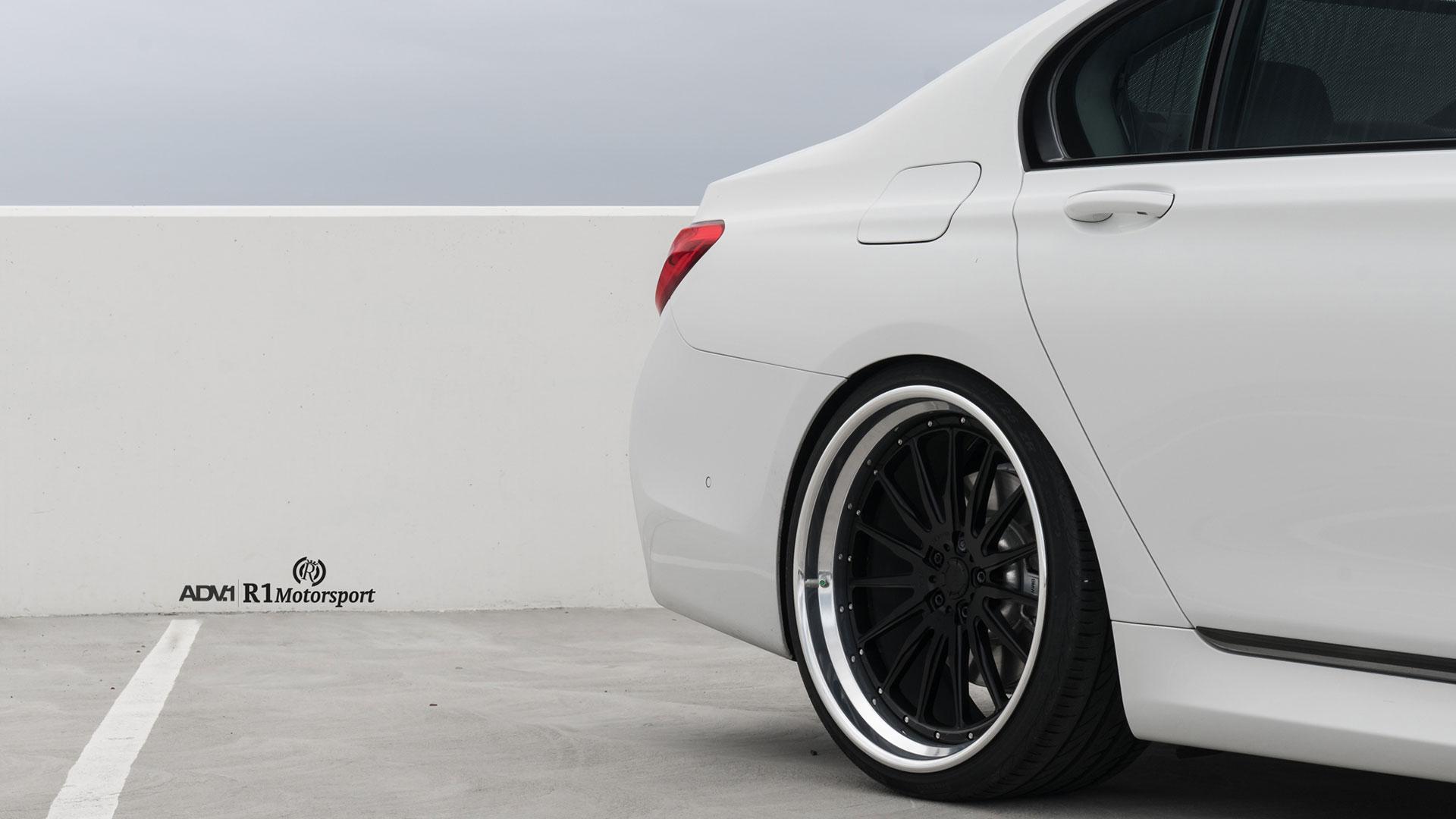 Alpine White BMW 740iL on ADV.1 Wheels (8)
