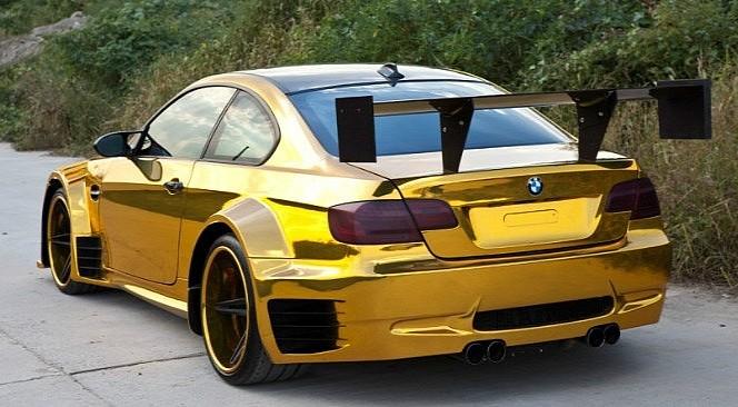 Gold Wrap E92 BMW M3